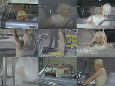 """Doris Day:) Some shots from the famous car wash scene  in """"Move Over Darling"""". No one like her!!!"""