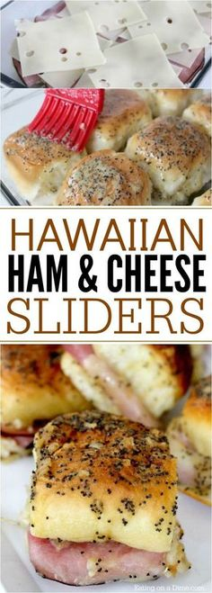 Hawaiian Ham and Cheese Sliders Looking for an easy dinner idea or appetizer? This Hawaiian ham and cheese sliders recipe are easy to make. They are the best Hot Ham and cheese sliders! Try this quick and Easy ham sliders recipe today! Ham Cheese Sliders, Ham And Cheese Sliders Hawaiian, Beef Sliders, Sliders Burger, Super Sliders, Tapas, Slider Sandwiches, Baked Sandwiches, Slider Recipes