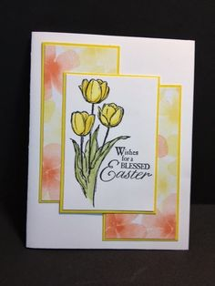 handmade Easter card from My Creative Corner! ... like the three block design layout ... lovely tulips ... pretty card! ...  Stampin'Up!