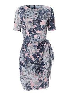 3d2f659b0352 Ganni kjole - Tilda Crepe Dress Rose Dawn Flower