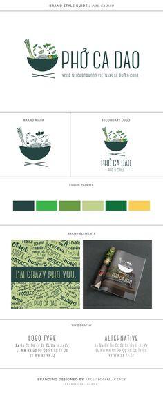 "Branding Style Guide for Vietnamese Pho Restaurant in San Diego, Pho Ca Dao Branding, ""I'm Crazy Pho You"""