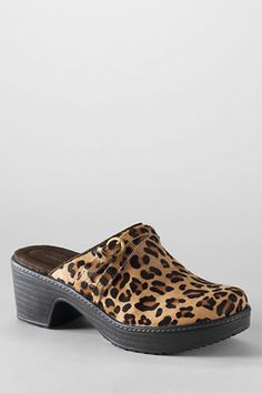 Women's Carly Calf Hair Clog Shoes from Lands' End