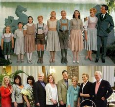 God this is beautiful...45 years later... the movie family Von Trapp. The Hills are still Alive...with the Sound of Music forever.
