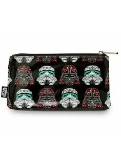 Star Wars Darth/Storm Sugar Skull Pencil Case by Loungefly (Black) #InkedShop #pencilcase #makeupbag #bag #starwars #stormtrooper #darthvader
