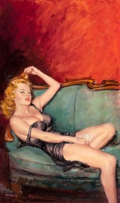 Clement Micarelli Vintage Pulp Art Illustration