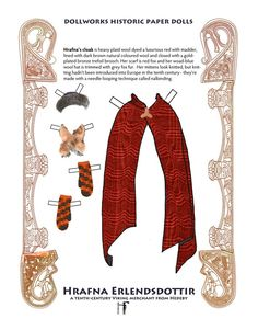 "Viking historic paper doll book Hrafna by FlyingMagpie on Etsy* 1500 free paper dolls at artist Arielle Gabriel""s The International Paper Doll Society also free China paper dolls The China Adventures of Arielle Gabriel *"