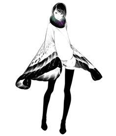 「デジタル」/「爽々」のイラスト [pixiv] / I like her poncho thingy. It looks like it could turn into wings.