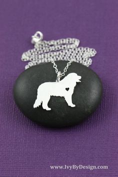 Bernese Mountain dog breed necklace in sterling silver with personalized engraving option by IvyByDesign on Etsy. Love this necklace - show how much your best friend means to you; great gift for the dog lover. *Personalize* your necklace with our engraving option!  Do you have a mixed breed, or is the silhouette not quite right? Consider a completely custom pendant of your pet, based on your own photos! Check it out here: https://www.etsy.com/listing/273496644 Have more pets? Check out this…