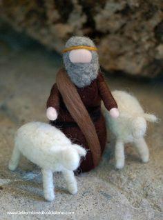 Pastor con dos ovejas cuento de hadas de por LeBambinediCaldalana