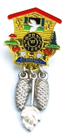 German Hat Pin: Cuckoo Clock