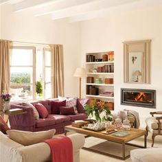 Home Decoration Ideas and Design Architecture. DIY and Crafts for your home renovation projects. Living Room Remodel, Home Living Room, Living Room Designs, Living Room Decor, Open Space Living, Living Spaces, Sweet Home, Living Room With Fireplace, Elegant Homes