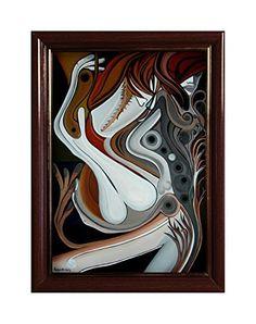 "EINGERAHMTER KUNSTDRUCK ""RED"" MARACHOWSKA ART von MARACHOWSKA ART, http://www.marachowska.com/"