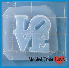 Stacked+LOVE+Flexible+Plastic+Handmade+Resin+by+MoldedfromLove,+$6.99