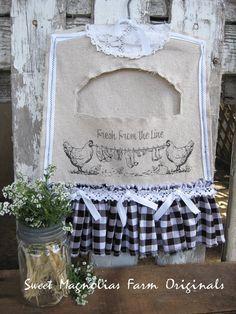 Vintage Clothespin Bag by SweetMagnoliasFarm, $32.50