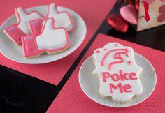 facebook poke like valentine cookies