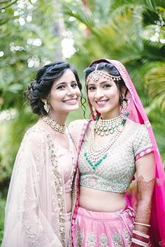 Sagar and Subiya | Destination Wedding in Bali | Sister of Bride in light pink lehenga with golden work | Indian Wedding | sister of the bride outfits | Credits: The Photo Diary | Every Indian bride's Fav. Wedding E-magazine to read.Here for any marriage advice you need | www.wittyvows.com shares things no one tells brides, covers real weddings, ideas, inspirations, design trends and the right vendors, candid photographers etc.