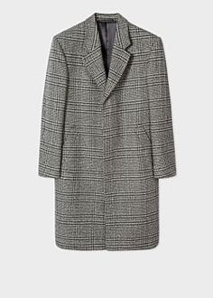 Paul Smith Men's Grey Check Wool And Cashmere-Blend Epsom Coat