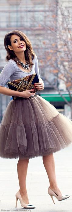 Street fashion and style. tulle skirt