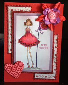 Happy Valentines (Stamp: Uptown Girl, Stamping Bella)