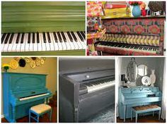 repainting a piano - this would be one option . . .