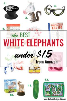 Up your white elephant gift giving game with these funny and quirky ideas! Just in time for your white elephant Christmas party! Christmas Treat Bags, Christmas Gift Exchange, Christmas Favors, Christmas On A Budget, White Elephant Christmas, Best White Elephant Gifts, Amazon Christmas Gifts, Neighbor Christmas Gifts, Diy Ugly Christmas Sweater