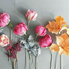 Beautiful bouquet comming to life! #paperflowers #paperpeonies #amarillys #dustymiller