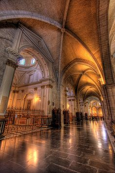Inside the cathedral - Valencia, Ciutat Vella (Valencia's Old City)  ~  Valencia Cathedral was founded in the 13th-C. and incorporates a number of architectural styles & artistic treasures - including the Holy Grail.