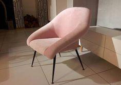 fotel PRL muszelka, loft, vintage, glamour, lata60