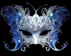 Blue butterfly mask