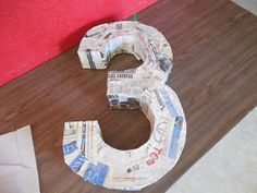 Toddler Haven: DIY Mickey Mouse Number 3 Pinata