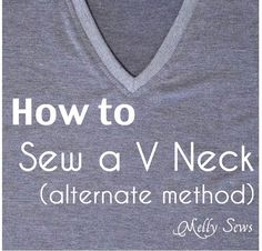 The Men's V Neck Tshirt. The V Neck is one of the options on my free Men's T-shirt pattern. Techniques Couture, Sewing Techniques, Sewing Hacks, Sewing Tutorials, Sewing Tips, Tutorial Sewing, Sewing Basics, Sewing Ideas, Diy Couture