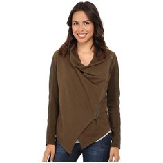 Blank NYC Drape Jacket Women's Coat ($98) ❤ liked on Polyvore