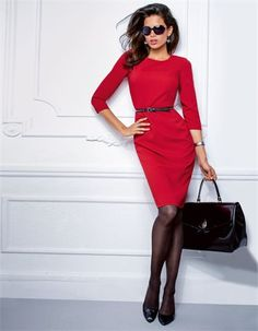 CLOSET BASICS :  Valentine's Day RED that is great day after day.  Madeleine