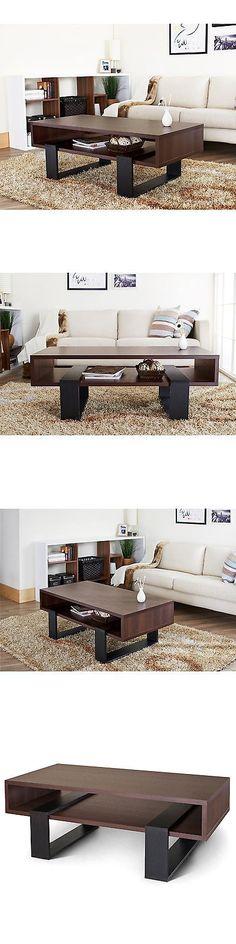 tables furniture of america fayth dark walnut black coffee table u003e buy it