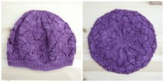 Grace Lace Beret in Koigu Kersti yarn. Free knitting pattern! Nearly done with my second one.