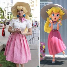Princess Peach Cosplayer: @a_smile_and_a_song : @geekymermaidproductions #princesspeach #cosplay #supermario #cosplaymakeup #cosplayer #princesspeachmakeup #wig #wigstyling #cosplaywig #princesspeachcosplay #nintendo
