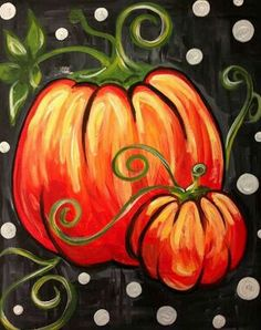 Whimsical easy pumpkin painting.