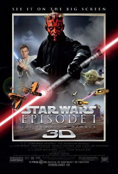 "Star Wars: Episode I - The Phantom Menace ~ ""Two Jedi Knights escape a hostile blockade to find allies and come across a young boy who may bring balance to the Force, but the long dormant Sith resurface to reclaim their old glory."""