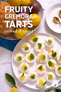 The only thing better than a Cremora tart is three new fruity fridge tart flavours! 🙌 These no-bake dessert tartlets are ideal for entertaining because you can prep ahead and spend more time with your guests! Enjoy this proudly South African dessert in three refreshing variations: pineapple tart, granadilla tart, and zesty lemon tart!