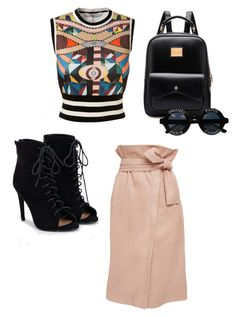 """Modern day school girl"" by duprel-nave-kilpatrick on Polyvore featuring Marissa Webb, Givenchy, JustFab, Chanel and modern"
