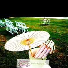 Gorgeous wedding parasols