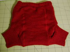 Turning a wool sweater into a diaper cover