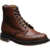 Church McFarlane 2 in walnut highland grain from Herring Shoes Leather Men, Leather Shoes, Patent Leather, Church's Shoes, Dress Shoes, Brogues, Loafers, Calves, Combat Boots