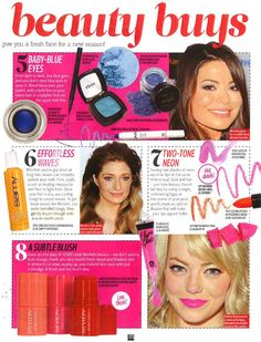 Fluro Gloss in Top of the Pops Magazine