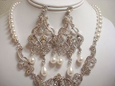 Wedding jewelry SET Necklace and earrings set by treasures570