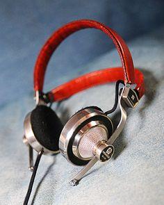 Metallic cover headphone with red leather headband #reikowireless #reikoheadphone #wholesale