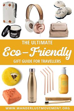 - 20 Eco-Friendly Gift Ideas for Travellers Searching for gifts that come with a low carbon footprint or zero waste? Not sure what to get the budding environmentalist/traveller in your life? I got ya back gurl. Here's my eco-friendly gift guide! Travel Advice, Travel Tips, Travel Hacks, Travel Packing, Packing Tips, Travel Ideas, Slow Travel, Travel Articles, Travel Europe