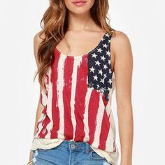 American Flag and Star Tank, 53.4% discount @ PatPat Mom Baby Shopping App