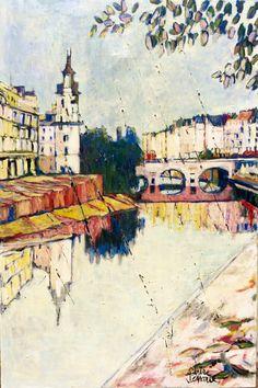 Vendredi Matin Original Paintings, Canvas, Painting, Art, Saatchi, Saatchi Art