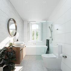 Bathroom Renos, Laundry In Bathroom, Bathroom Layout, Bathroom Renovations, Small Bathroom, Bathroom Design Luxury, Interior Design Kitchen, Cafe Interior, Complete Bathrooms
